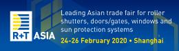 R+T Asia 2020 - 2/26/2020