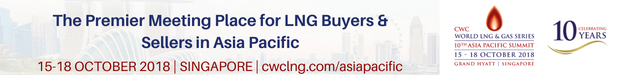 CWC World LNG & Gas Series: Asia Pacific Summit - 10/18/2018