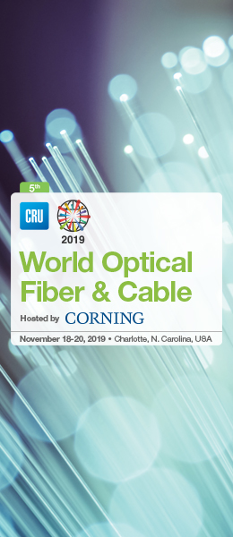 CRU World Optical Fiber & Cable Conference - 11/20/2019