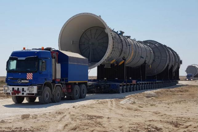 Completion of Heaviest and Tallest Cargo Transportation in
